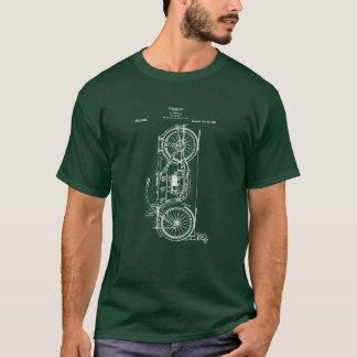 1919年を引くオートバイのパテント Tシャツ