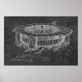 1920年の航空機の飛行機のパテントのスケッチのプリント ポスター