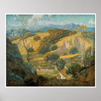 1920年頃モーリスBraun著カリフォルニア谷の農場 ポスター