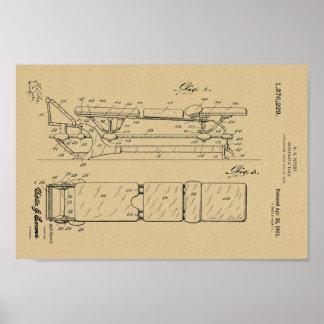 1921年のヴィンテージのカイロプラクティックのテーブルのパテントの芸術のプリント ポスター