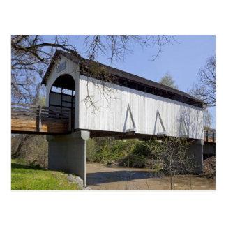 1922年に造られるカモシカの入り江の屋根付橋 ポストカード