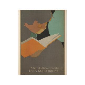 1925人の児童読書週間木ポスター ウッドポスター