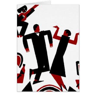 1925年のDecoの踊りのカップル カード