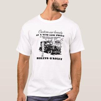 1926年のWillysの騎士自動広告のワイシャツ Tシャツ