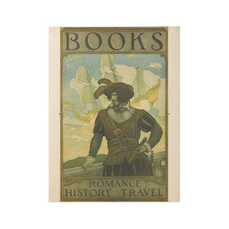 1927人の児童読書週間木ポスター ウッドポスター