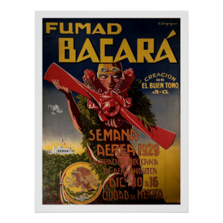 """1929年の航空ポスター""""Fumad Bacara """" ポスター"""