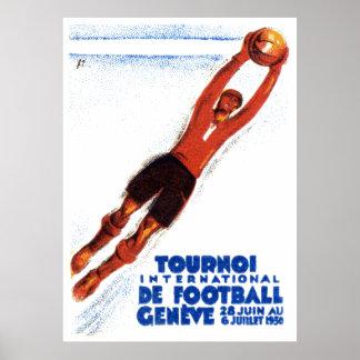 1930年のサッカーのトーナメント ポスター