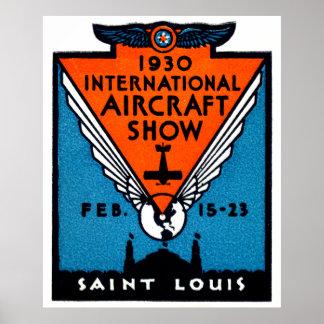 1930年のセントルイスのエア・ショー ポスター