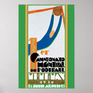 1930年のヴィンテージのワールドカップのフットボールポスタープリント ポスター