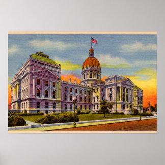 1930年頃インディアナポリス、インディアナの国家の家 ポスター