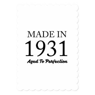 1931年に作られる カード