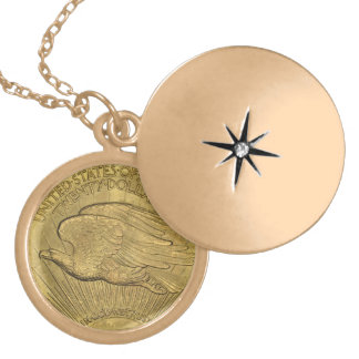1933二重ワシの金貨 ゴールドプレートネックレス