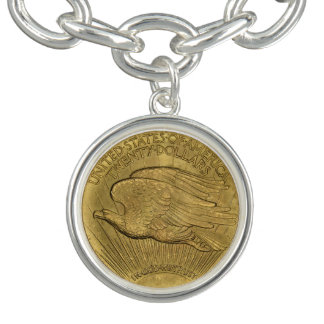 1933二重ワシの金貨 チャームブレスレット