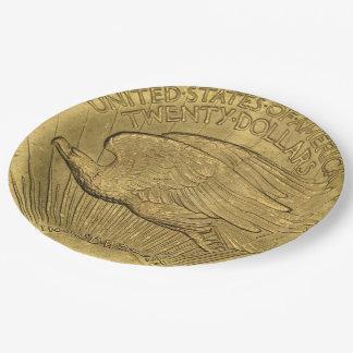 1933二重ワシの金貨 ペーパープレート