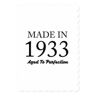 1933年に作られる カード