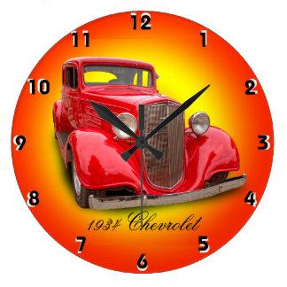 1934年のシボレー ラージ壁時計