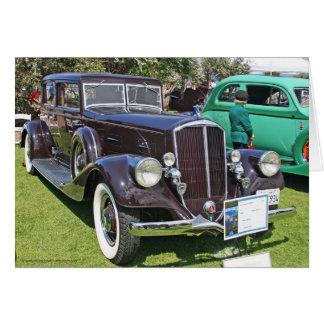 1934年のピアースの矢の自動車挨拶状 カード