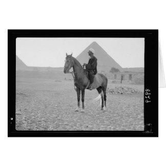 1934年頃騎手が付いているギーザのピラミッド カード