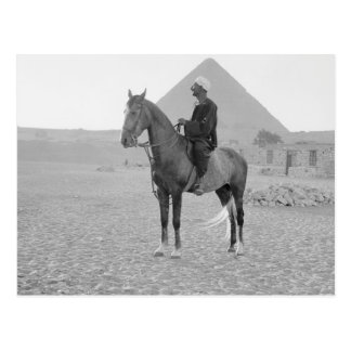 1934年頃騎手が付いているギーザのピラミッド ポストカード