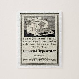 1935年からのヴィンテージのタイプライター広告 ジグソーパズル