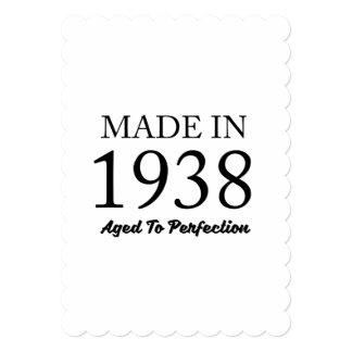 1938年に作られる 12.7 X 17.8 インビテーションカード