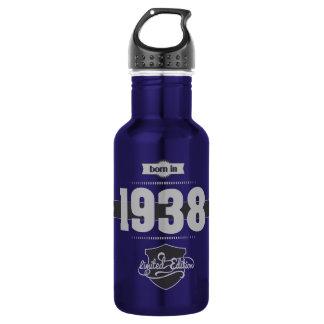 1938年に生まれて下さい(Light&Darkgrey) ウォーターボトル