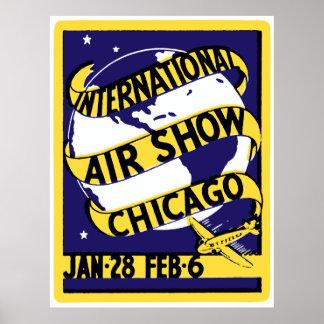 1938年のシカゴの国際的なエア・ショー ポスター