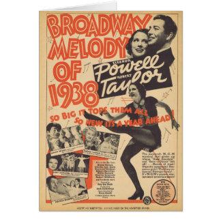 1938年のブロードウェイのメロディー カード