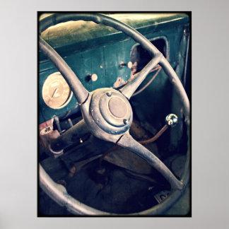 1939匹のアンティーククラシックな車のダッシュボード ポスター