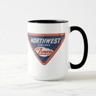 """1939年のノースウェスト航空の""""空のそよ風""""のコーヒー・マグ マグカップ"""