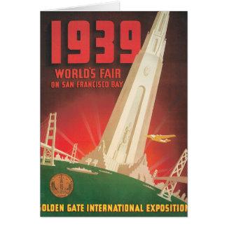 1939年の万国博覧会のサンフランシスコ旅行ポスター カード