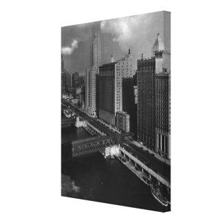 1939年11月:  シカゴ市 キャンバスプリント