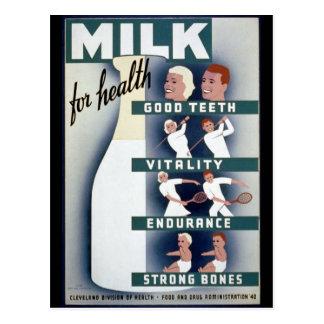 1940ミルクポスター ポストカード