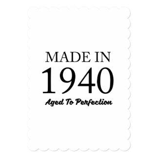 1940年に作られる 12.7 X 17.8 インビテーションカード