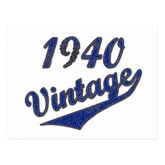 1940年のヴィンテージ ポストカード
