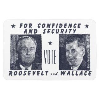 1940投票ルーズベルト + 灰色ウォーレス マグネット