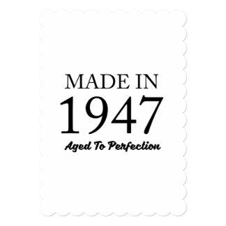 1947年に作られる 12.7 X 17.8 インビテーションカード