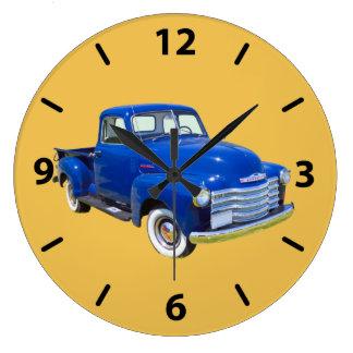 1947年のシボレーThriftmasterのアンティークの小型トラック ラージ壁時計