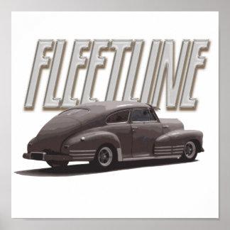 1947年のChevy Fleetline ポスター