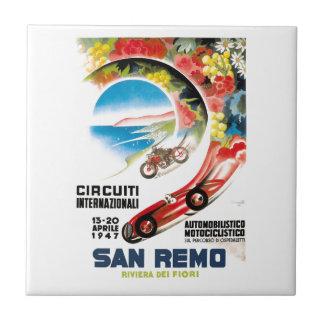 1947年のSan Remoグランプリの競争ポスター タイル