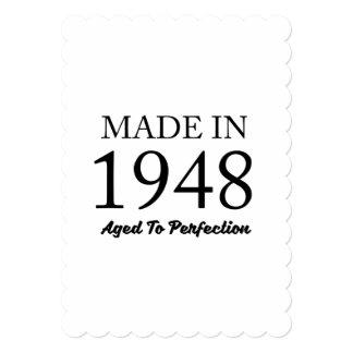 1948年に作られる 12.7 X 17.8 インビテーションカード
