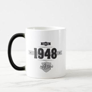 1948年に生まれて下さい(Dark&Lightgrey) モーフィングマグカップ