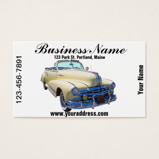 1948年のポンティアクの銀製の縞のコンバーチブル車 名刺
