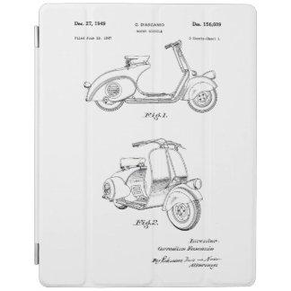 1949年頃モーター自転車のパテント-ラインスケッチ iPadスマートカバー