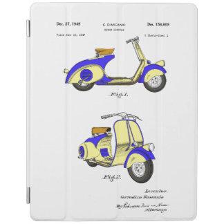 1949年頃モーター自転車のパテント-青 iPadスマートカバー