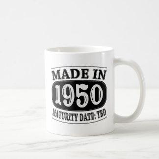 1950年に作られる-満期日TDB コーヒーマグカップ