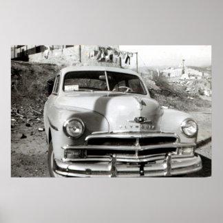 1950年のプリマスのデラックスなポスター ポスター