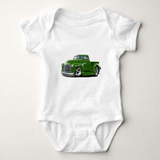 1950-52年のChevyの緑のトラック ベビーボディスーツ