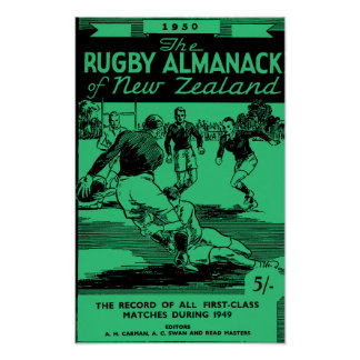 1950 New Zealand Rugby Almanack - Archival Print ポスター
