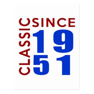 1951の誕生日のデザイン以来のクラシック 葉書き